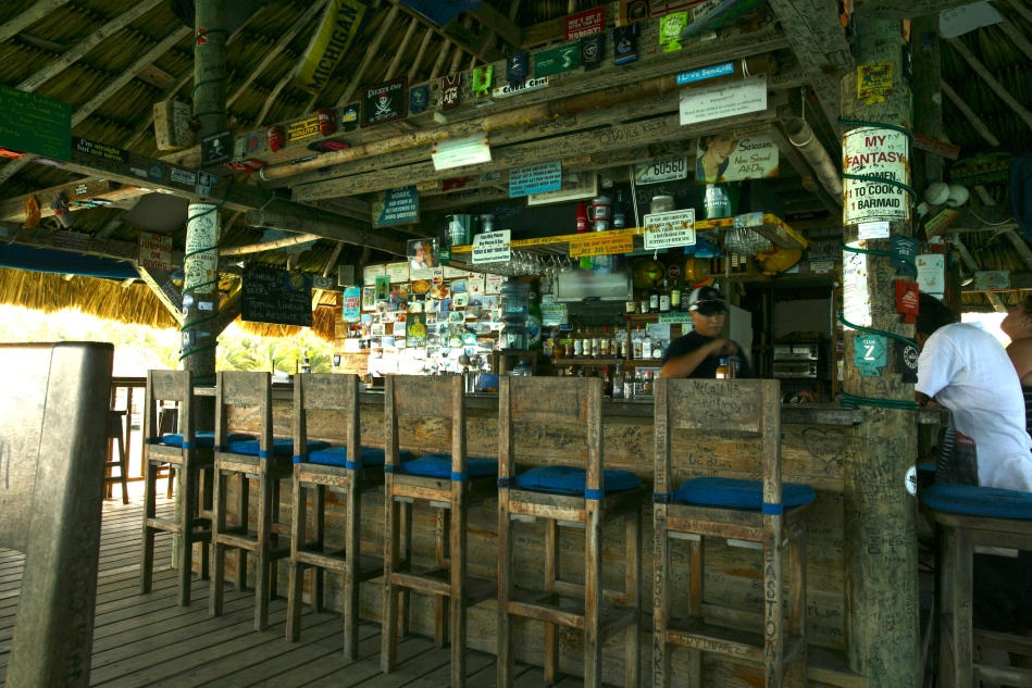 Quiet day at the Palapa Bar