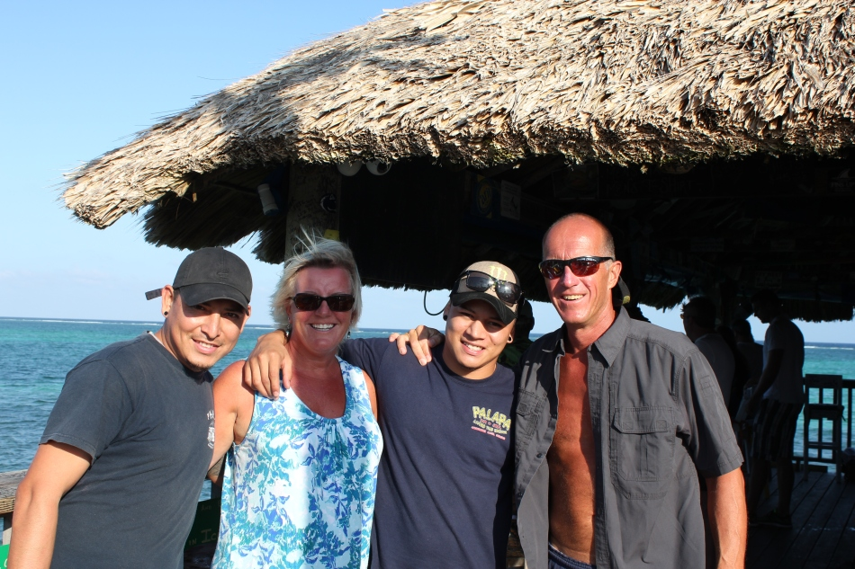 Saying goodbye to the staff at Palapa.