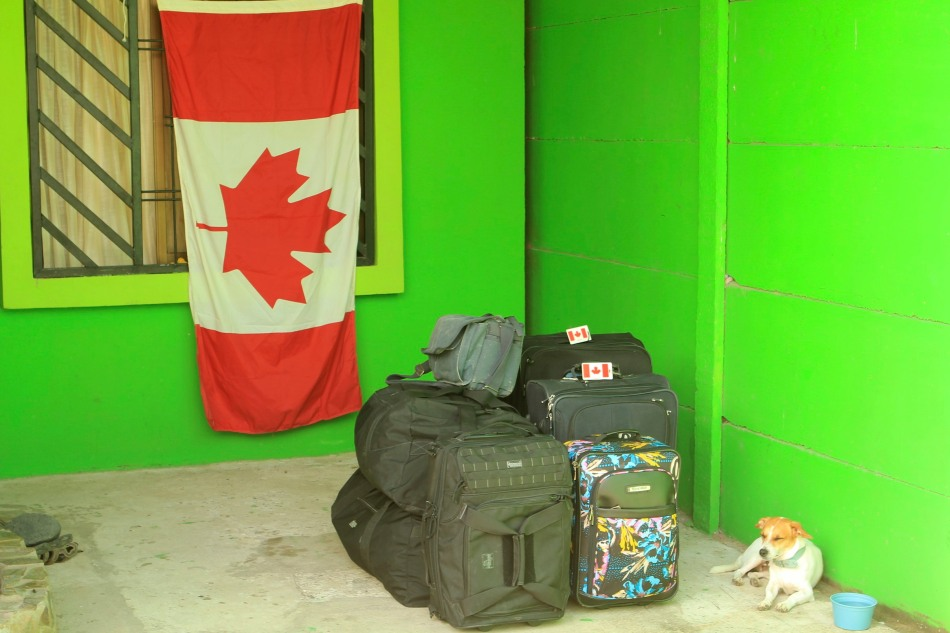 All packed up and ready to move on Canada Day.