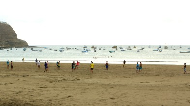 Locals playing futbol on the beach. A pretty impressive skill set being demonstrated