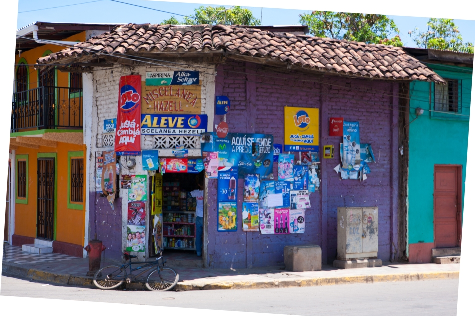 One of many colourful shops around town.