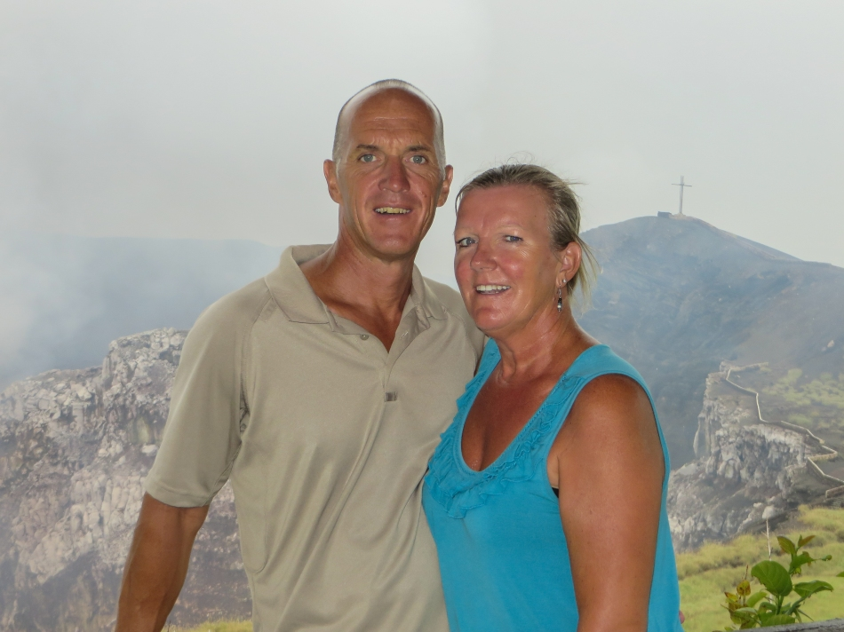 We stopped for a photo op half way up the dormant volcano. Great views from the top.