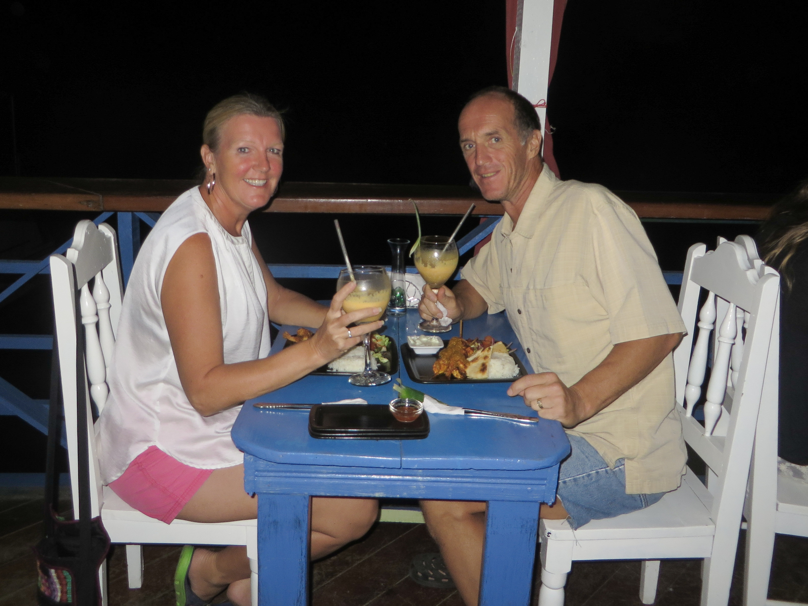 Dinner at Mariposa in Bocas del Toro