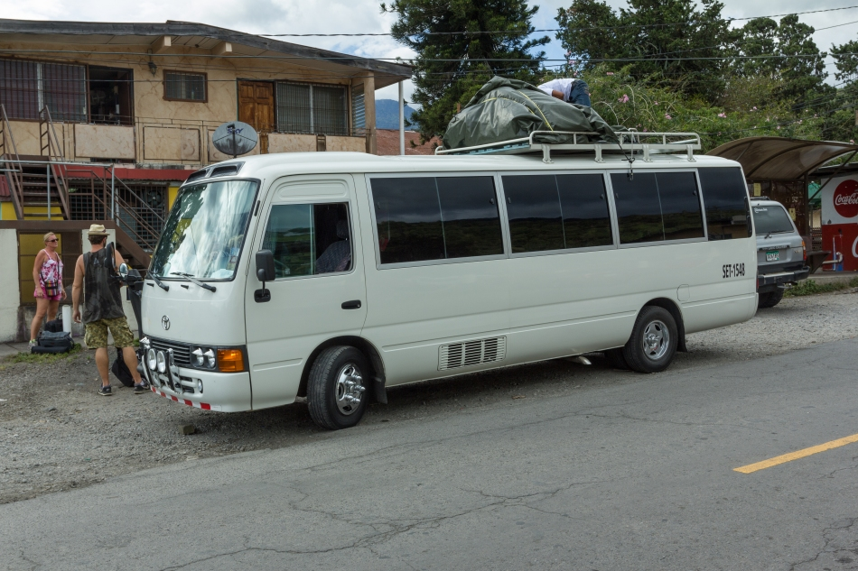 The shuttle bus which took us from Bocas del Toro to Boquete. $30US per person for the 20km boat ride off the island and 180km bus ride. Pretty reasonable deal for just under 5 hours of travel.