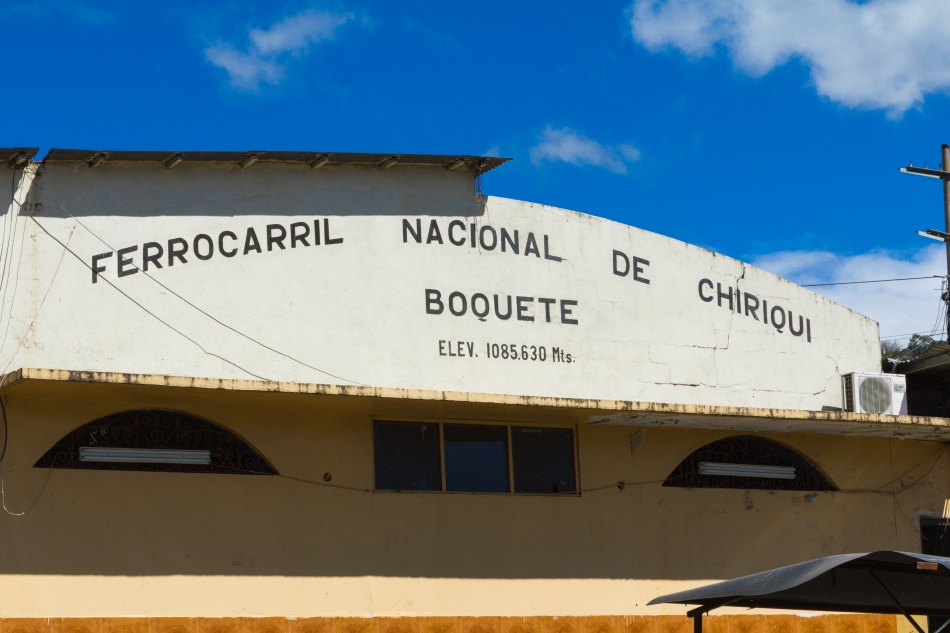 Welcoming view at the bus station in Boquete.