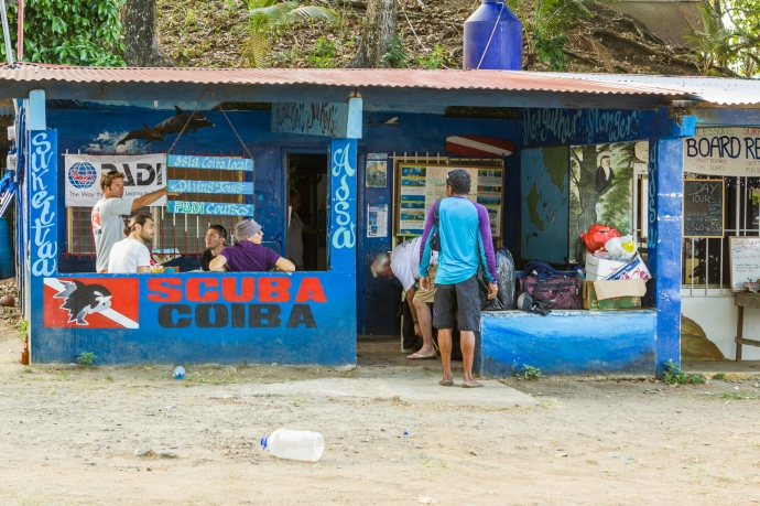 Scuba Coiba's shop, right by the beach in Santa Catalina.