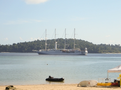 Windstar Cruises arrived on our third day.