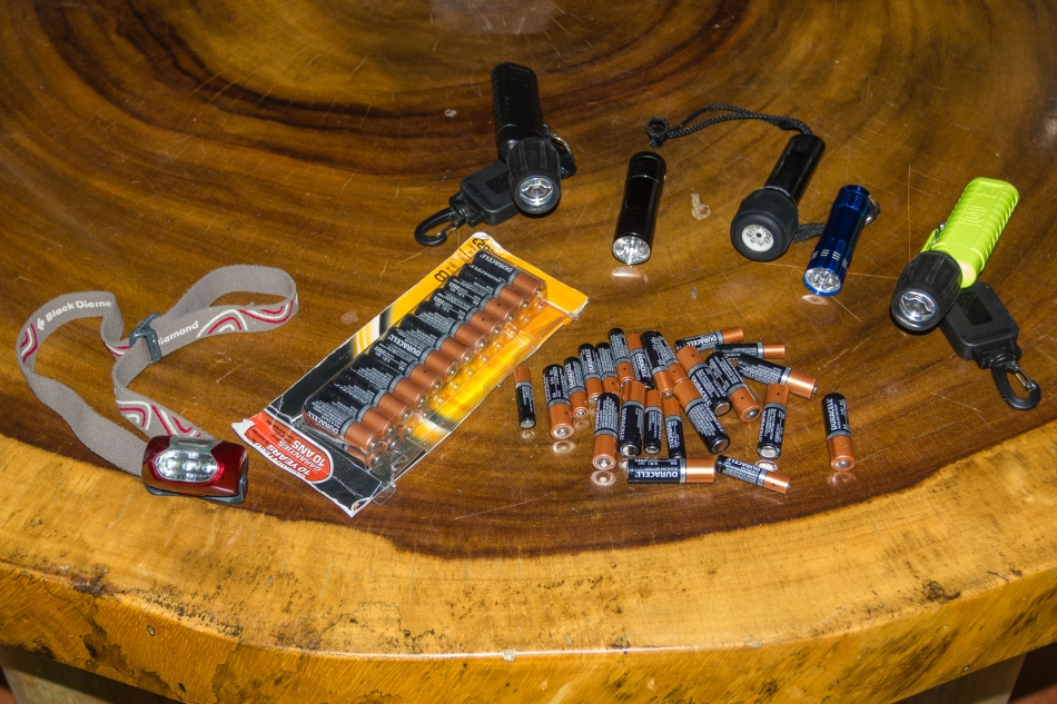 It never hurts to have extra flashlights and batteries. Lots of batteries.
