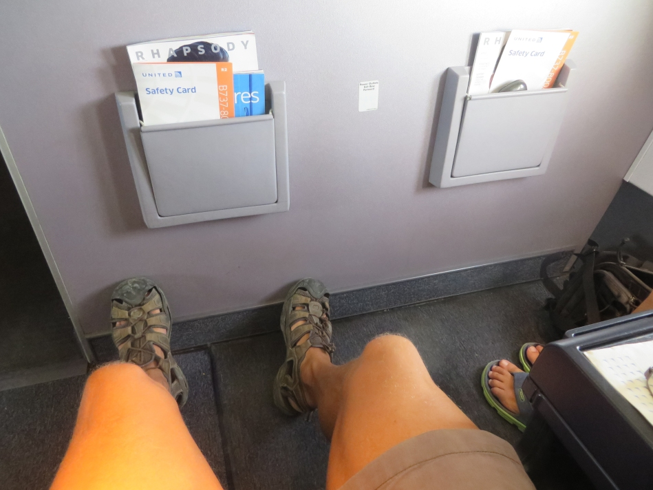 One of the best reasons to upgrade when you are able to. Being able to stretch out your legs is bliss while flying.