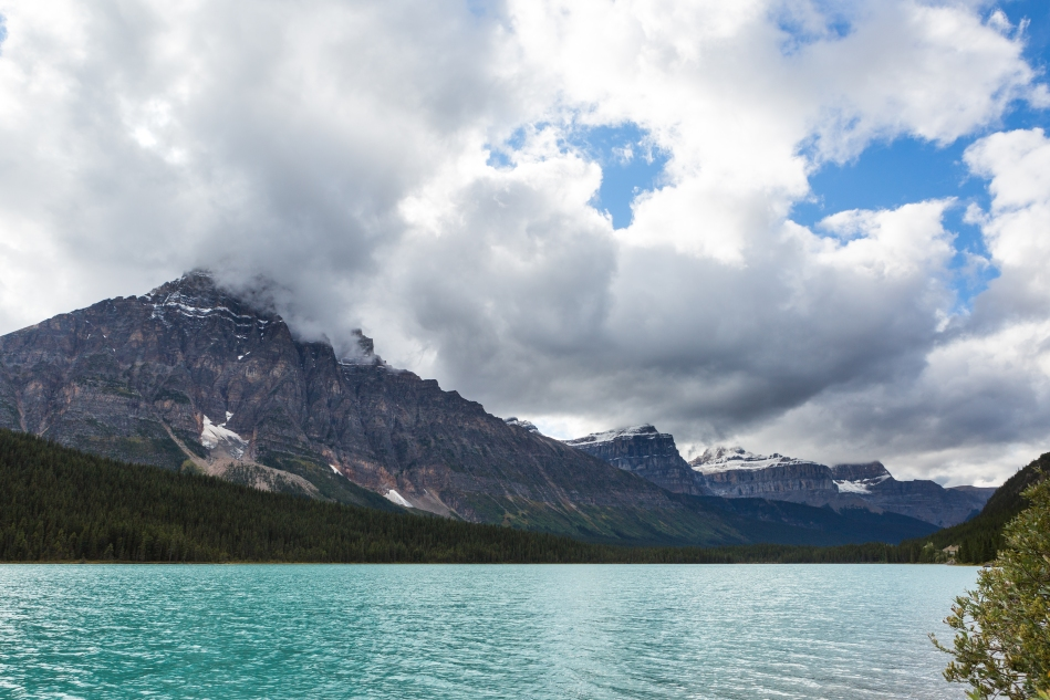 Looking west across Waterfowl Lakes.