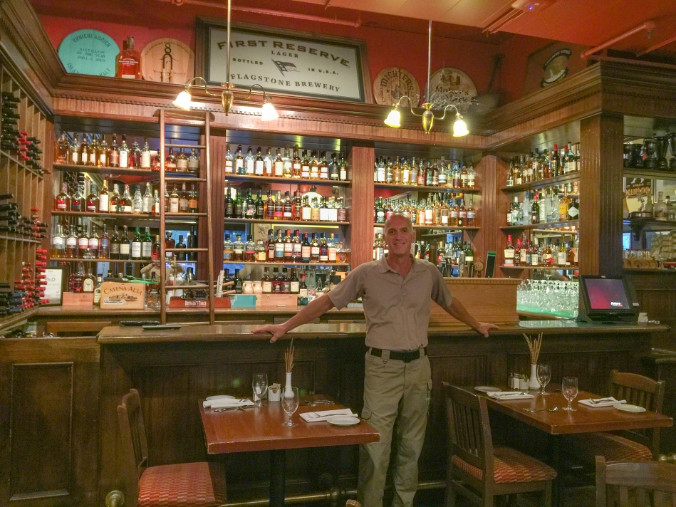 Enjoying an evening of great conversation and outstanding scotch.