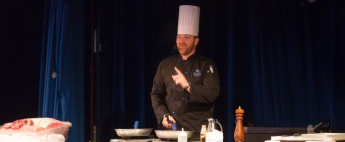 A lesson on preparing the perfect steak by the Executive Chef Sauer.