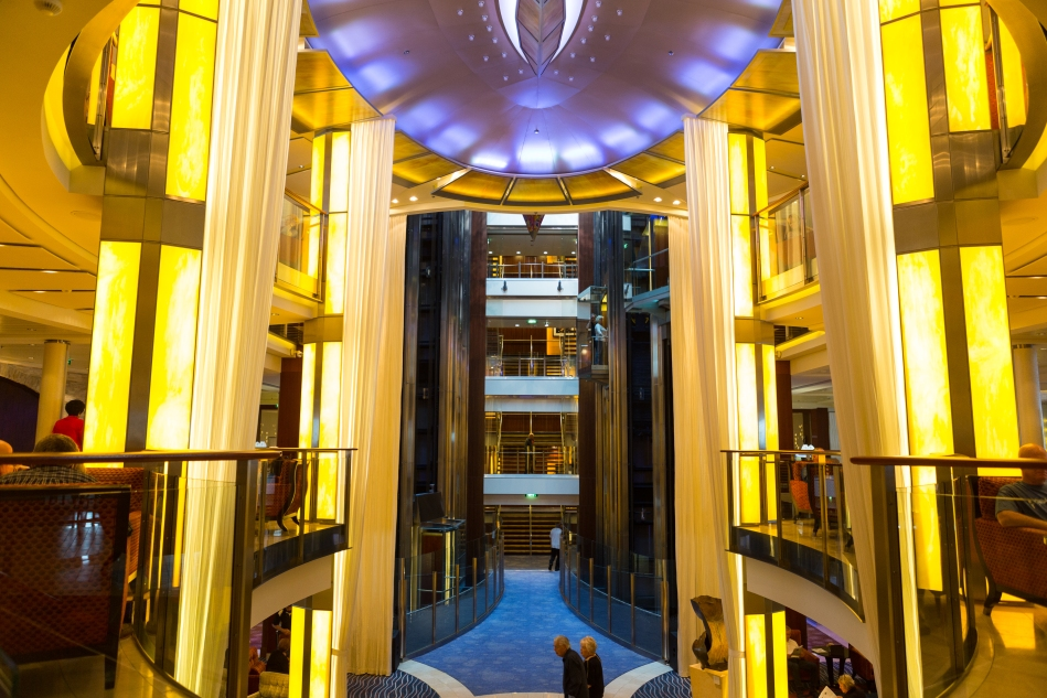 A view of the Central Foyer from deck 7.