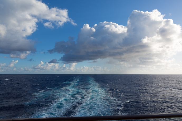 After a couple of cloudy days this was the standard view each morning from our stateroom.