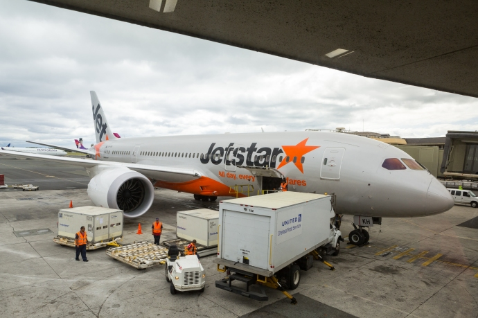 Waiting to board our delayed Jetstar flight for Brisbane, Australia.
