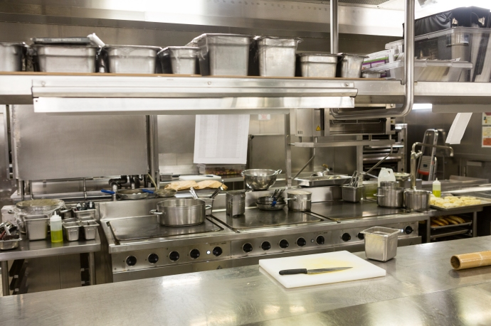 Took a tour of one of the ship's kitchens. An amazing set up.
