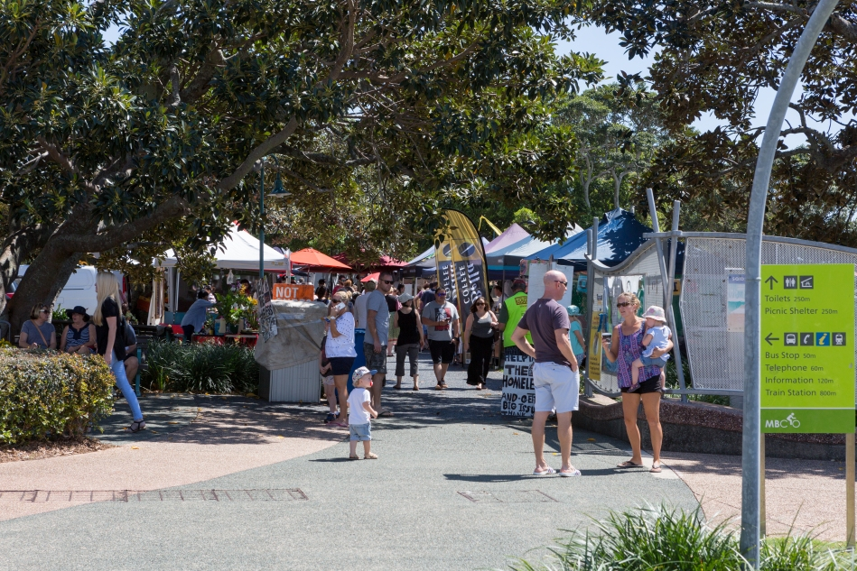 Enjoying a fantastic weekend market down by the harbour in Manly, Queensland.
