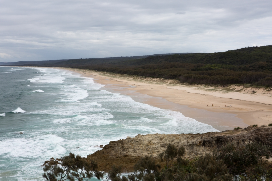 Looking south, down the east coast of Straddie. Bit of a grey day, but great for walking.