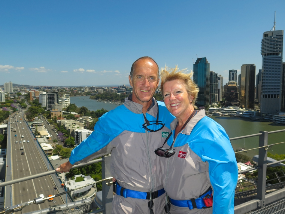 We were so fortunate to be the only two on our climb of the Story Bridge. The views were amazing.