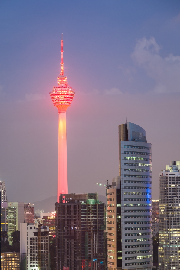KL Tower at Sunset