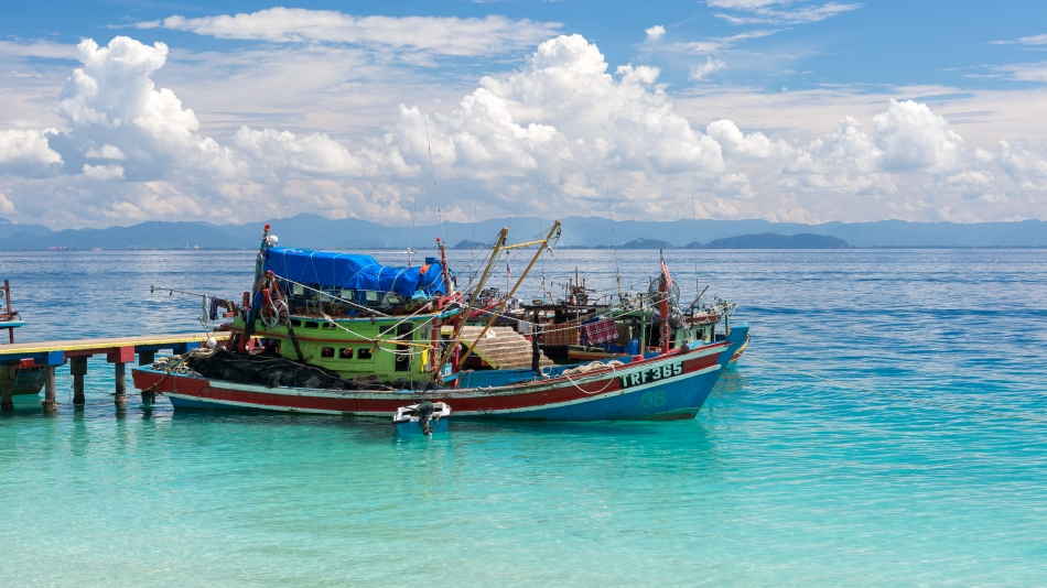 #Perhentian #perhentianisland #boat #clouds #blue #Malaysia