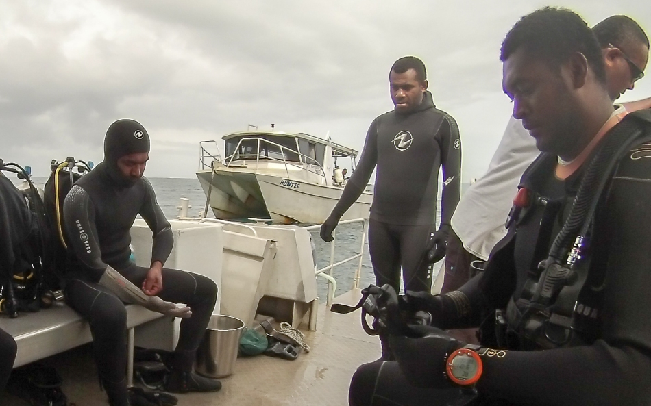 Prepping for the dive