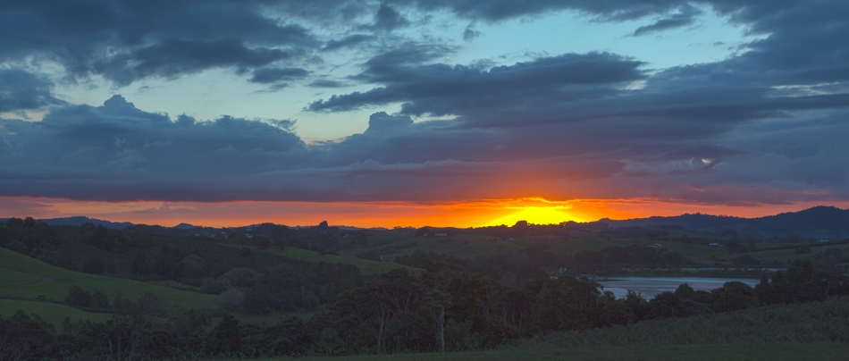 Sunset over Matakana